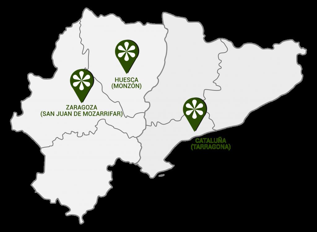 Mapa de Distribucion Lubricantes Naval Grupo Rafael Naval Zaragoza Huesca Tarragona